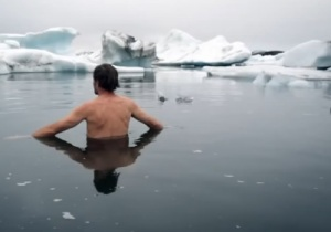 wim hof in ice water