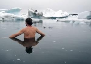 wim hof in ice water